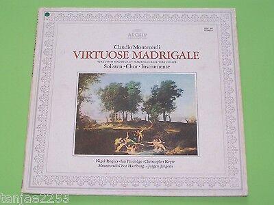 Monteverdi - Jürgens Rogers Partridge - Virtuose Madrigale  Archiv Produktion LP