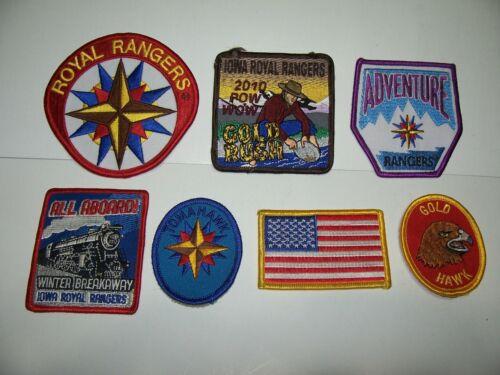 Iowa Royal Rangers Adventure Achievement Patches 2010 Memorabilia 12 Point Stars