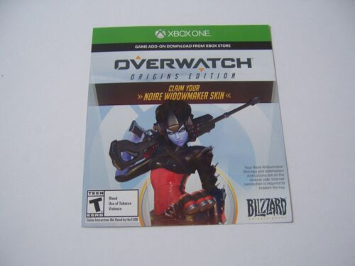 Noire Widowmaker Skin in Overwatch for Xbox One XB1 - UN-USED AND WORKING!!