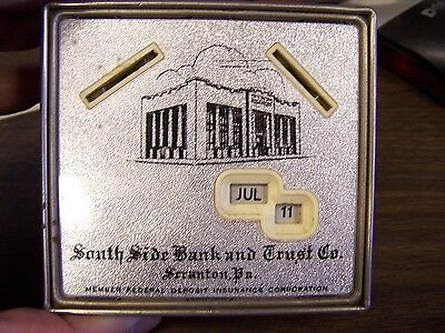 Vintage   South Side Bank   Trust Co   Scranton Pa   Advertising Bank