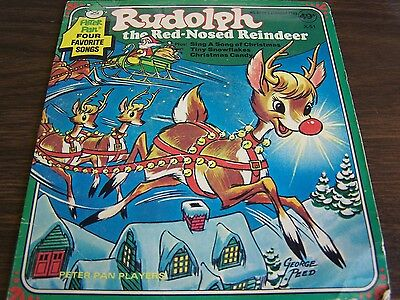 VINTAGE - RUDOLPH THE RED NOSED REINDEER - PETER PAN - FOUR FAVORITE SONGS