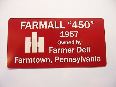 Engraved 3x6 Sign For Your Antique Tractor John Deere Farmall Case Oliver