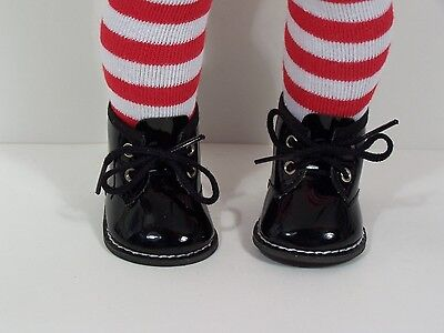 Black Patent Boots For Girls (BLACK Patent Winter Dress-Up Work Boots Doll Shoes For 18