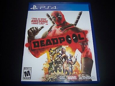 Replacement Case (NO GAME) DEADPOOL PlayStation 4 PS4 100% Original Box