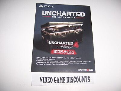 Uncharted 4 The Lost Legacy Voucher Add On Token Dlc Code For Playstation 4 Ps4