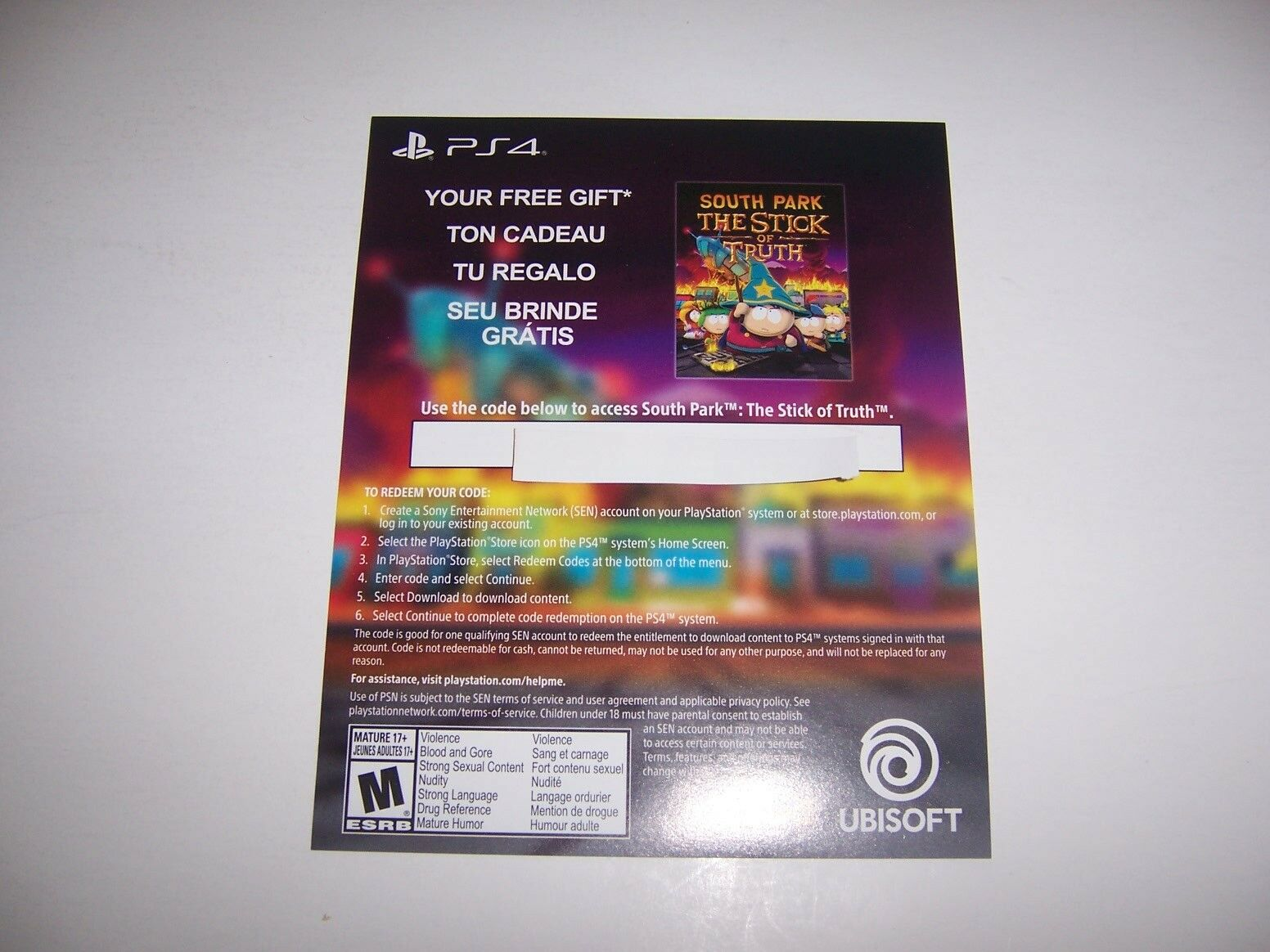 Купить South Park The Stick of Truth PS4 PlayStation 4 Download Code DLC VALID WORKING