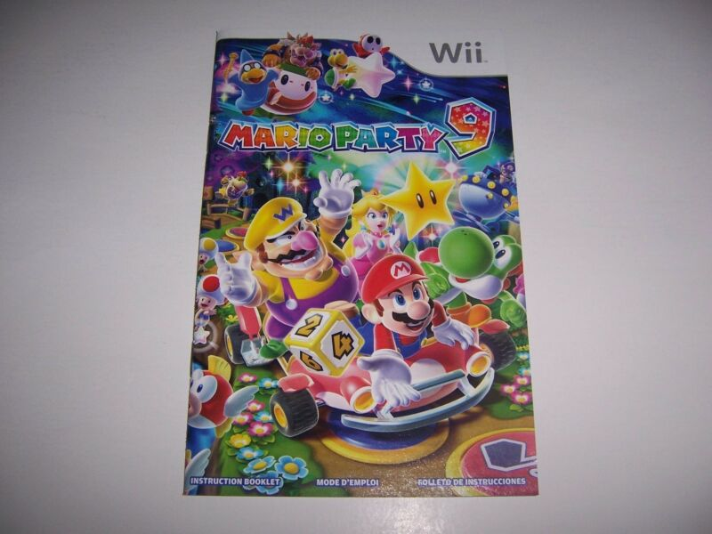 Mario Party 9 Instruction Book Booklet Manual for Nintendo Wii
