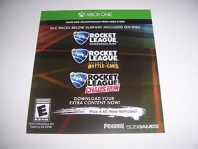 Rocket League Download Code DLC for EXTRA CONTENT Add-on Xbox One XB1