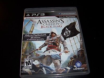 Replacement Case (NO GAME) ASSASSINS CREED IV BLACK FLAG  PS3 PLAYSTATION 3 Flag Case Zubehör