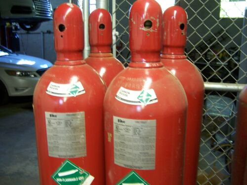 USED FIKE 100 LB Carbon Dioxide Cylinders P/N C70-100 Empty, Lot of Four (4) NOS