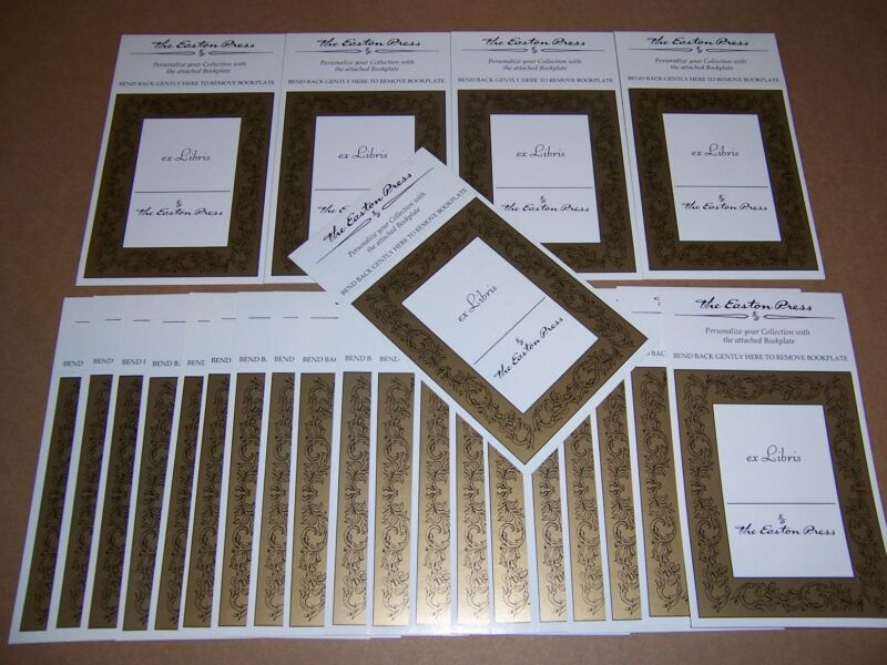 Easton Press bookplates with Golden Design, 30 counts (book plates)