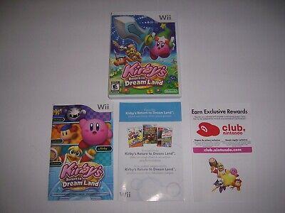 Original Box Case Kirby's Return to Dream Land w/ Manual & Inserts Nintendo Wii