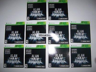Qty 10 - WHOLESALE DLC CODES Xbox Box 360 XB360 - Alan Awake Game