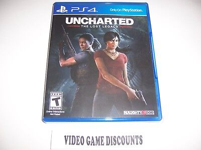 Original Box Case Replacement Sony Playstation 4 Uncharted The Lost Legacy