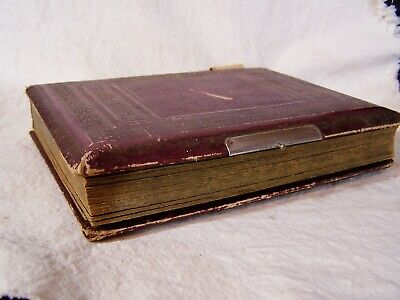 Antique Victorian Leather PHOTO ALBUM Cabinet Photo EDGERLY ELDREDGE Family -