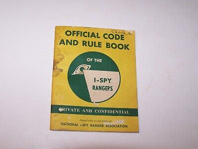 Vintage pre owned used 1958 Official Code and Rule Book I Spy Rangers paperback