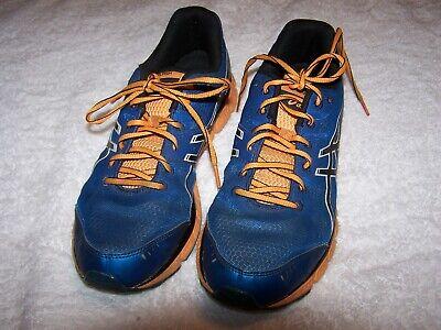 Men's Blue Aasics Gel Flash  Athletic Walking shoes SZ 9 42.5 Eur Free/ShipUSA