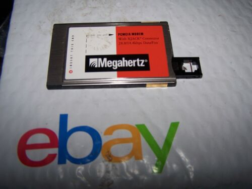 Megahertz Model XJ2288 PCMCIA Modem 28.8/14.4BPS Data/Fax with xJack connector