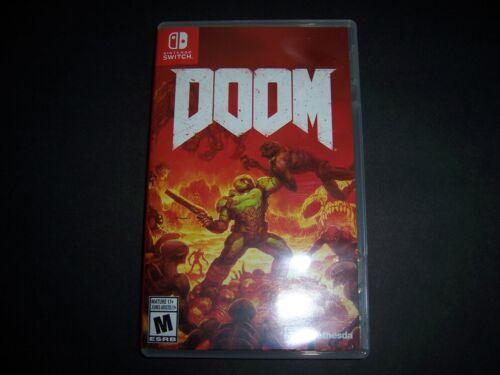 Replacement Case (NO GAME) Doom Nintendo Switch Box Original