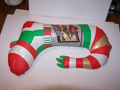 Vintage inflatable blow up Miller Genuine Draft Light Beer Christmas Grinch boot - Grinch Blow Up