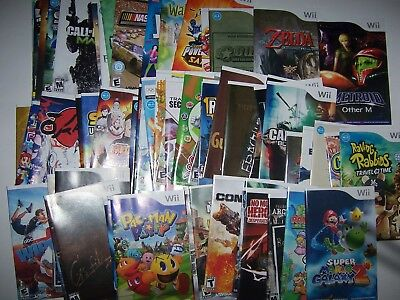 Nintendo Wii Replacement Instruction Manual Book - SELECT YOUR TITLE OVER 100+
