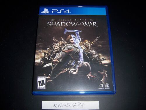 Replacement Case (NO GAME) Middle Earth Shadow of War PlayStation 4 PS4 Box