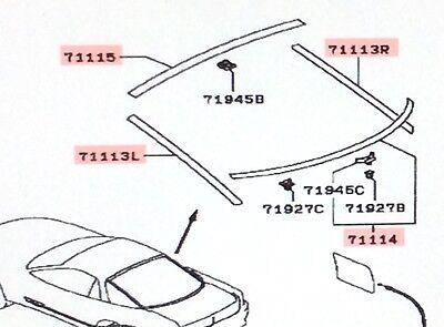 Genuine Mitsubishi OEM Hatchback Lower Glass Reveal Molding  3000GT 1991 - 1999