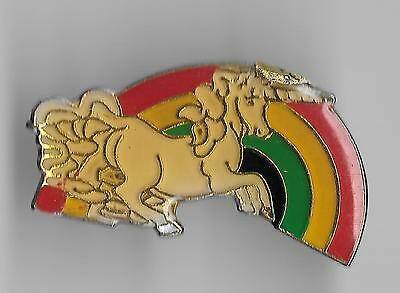 Vintage Unicorn with a Rainbow 4a old enamel pin