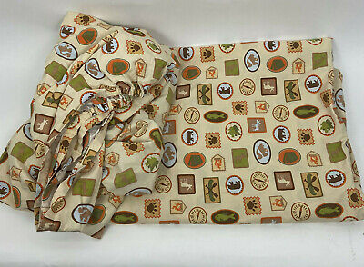 Woolrich Kids Flat and Fitted Sheet Set Camping Outdoor Scout Theme Twin