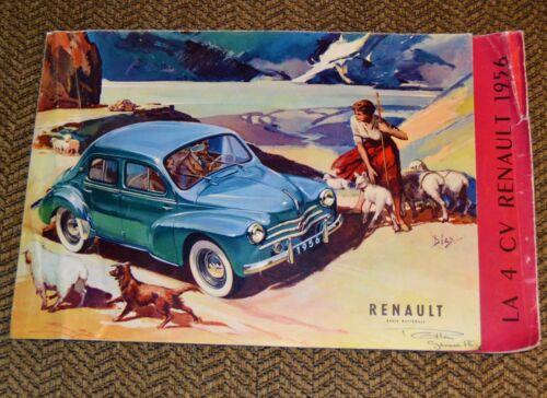 VTG 1956 Renault LA 4 CV Brochure / Poster
