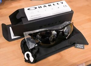 NEW Oakley OO9154-01 Men's Half Jacket 2.0 XL Polished Black Iridium Sunglasses