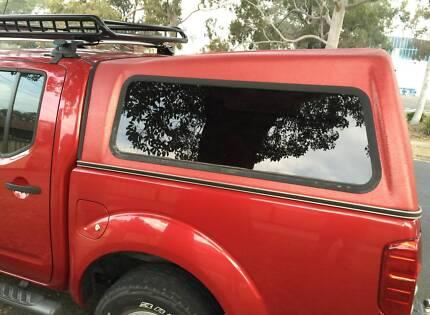 NISSAN D40 NAVARA DUAL CAB TJM - 3XM CANOPY - TUSCAN RED Yagoona Bankstown Area Preview