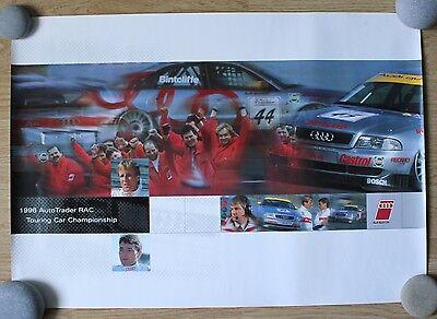 1996 Audi Sport UK AutoTrader RAC BTCC Poster A4 Quattro *VERY RARE*