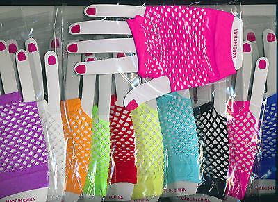 Fingerless Fish Net Half Gloves Cute Stylish One Size Fits Most B-2-10