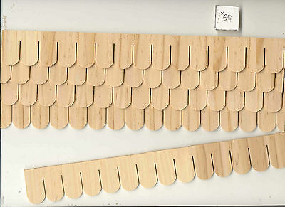Shingles Strip Fishscale 7405  1 12 Scale Dollhouse Roofing Wood Houseworks 12Pc