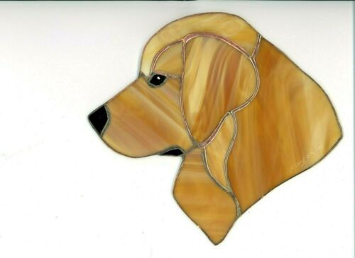 STAINED GLASS - DOG GOLDEN RETRIEVER