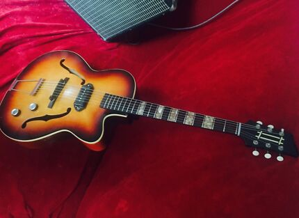 Vintage archtop new frets , nut and machine heads plays like new