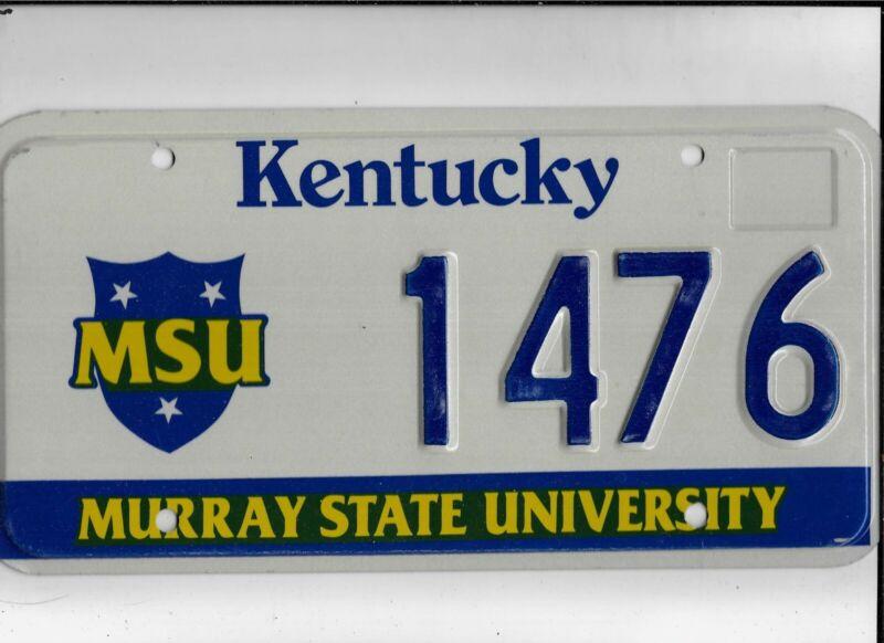 "KENTUCKY license plate ""1476"" ***MINT***MURRAY STATE UNIVERSITY***"