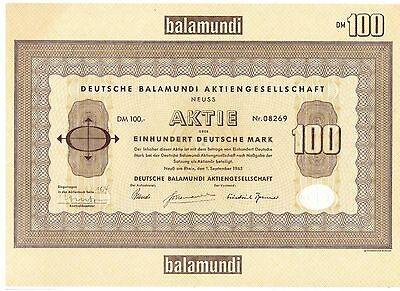 Deutsche Balamundi AG 100DM Neuss  1965