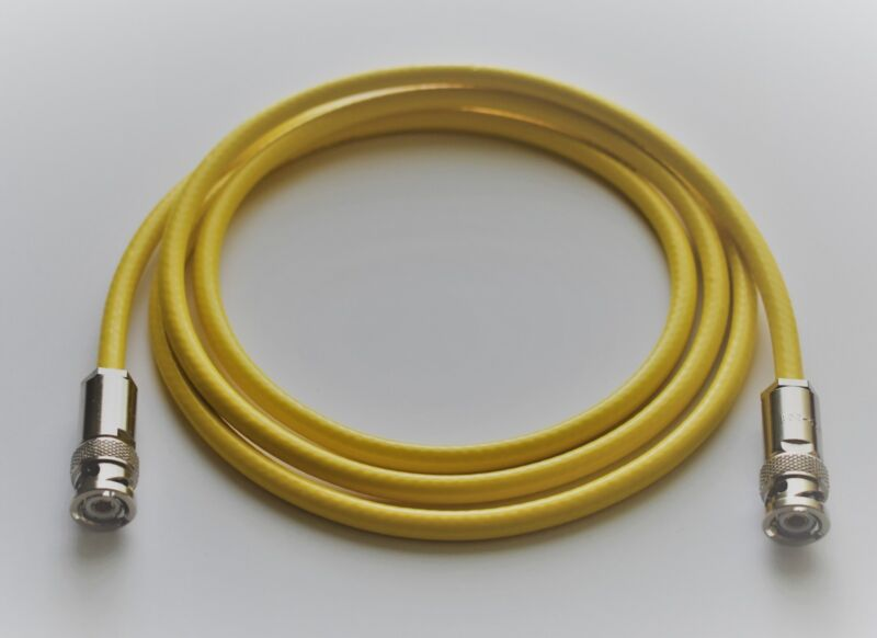 """Brand New, Triax, 3 Lug/Male Cable, 60"""" (5ft), 50 Ohm, Belden 9222, Yellow"""