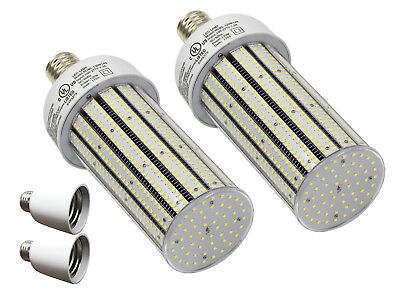 QTY2 CC120-39+ 2 Adapters LED PRIVATE PROP LAMP POST LITE E39 WHITE 120W EQV 720