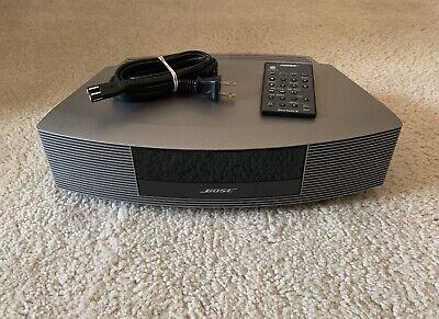 Bose Wave Radio III AM/FM AUX Alarm Clock with Power Supply & Remote Control