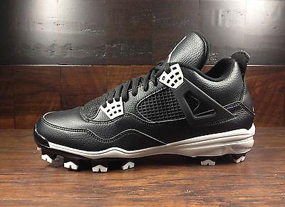 - AIR JORDAN IV 4 MCS Baseball Cleats (Black/Tech Grey) [807709-010] MENS