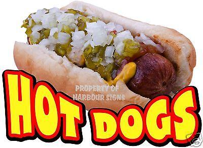 Hot Dogs Decal 14 Hotdogs Concession Restaurant Cart Food Truck Vinyl Sticker