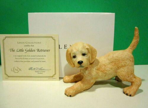 LENOX LITTLE GOLDEN RETRIEVER PUPPY DOG 4 1/2 inch sculpture NEW in BOX with COA