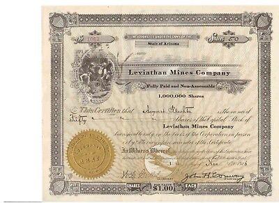 Leviathan Mines Company  1916