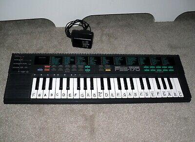 Yamaha PortaSound PSS-170 Voice Bank Portable Electronic Keyboard + Power Supply