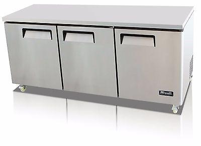 Migali C-u72r-hc Commercial Three Door Undercounter Refrigerator