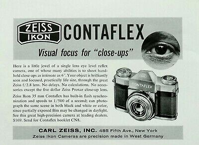 Publicité papier Adprint PHOTO ZEISS IKON CONTAFLEX Feb 1956  NG P1026409