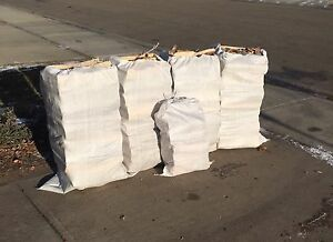 4-XXL Bags of Birch Firewood+Small Bag of Pine